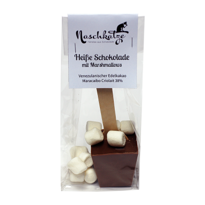 Trinkschokolade Stick Vollmilch 38% mit Marshmallows