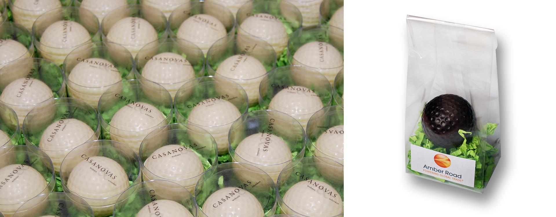 Golfbälle aus Schokolade
