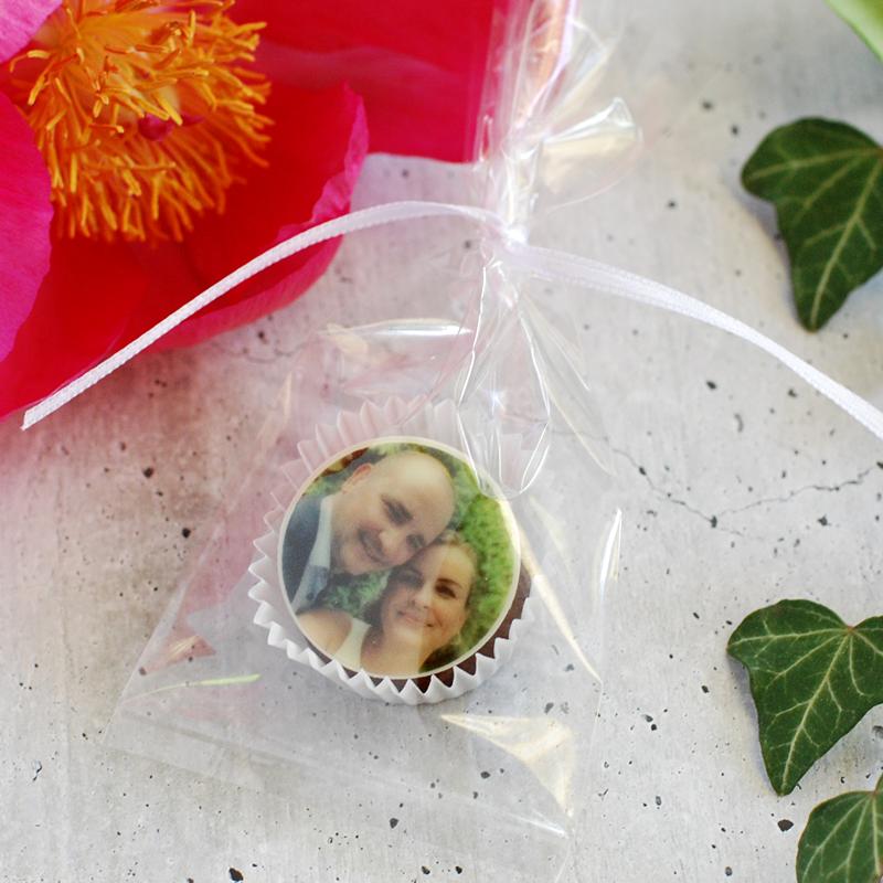 Fotopralinen einzeln verpackt im Tütchen