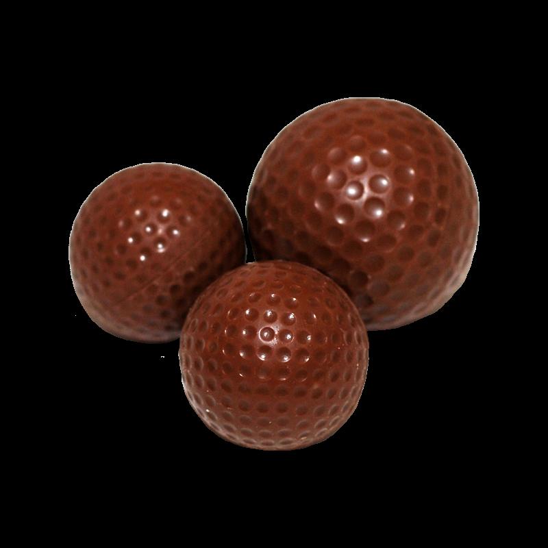 Golfbälle klein aus Schokolade lose