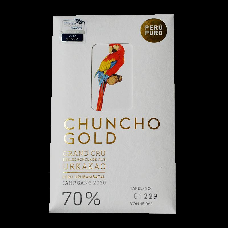 Perú Puro Chuncho Gold Grand Cru 70% Bean to Bar vegan