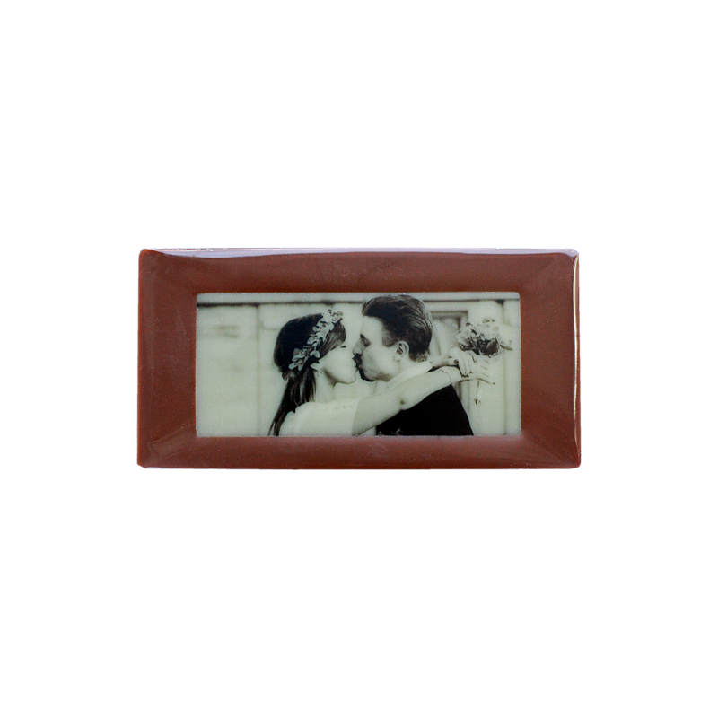 Minitafel 8x4cm Tischkarte aus Schokolade mit eigenem Foto