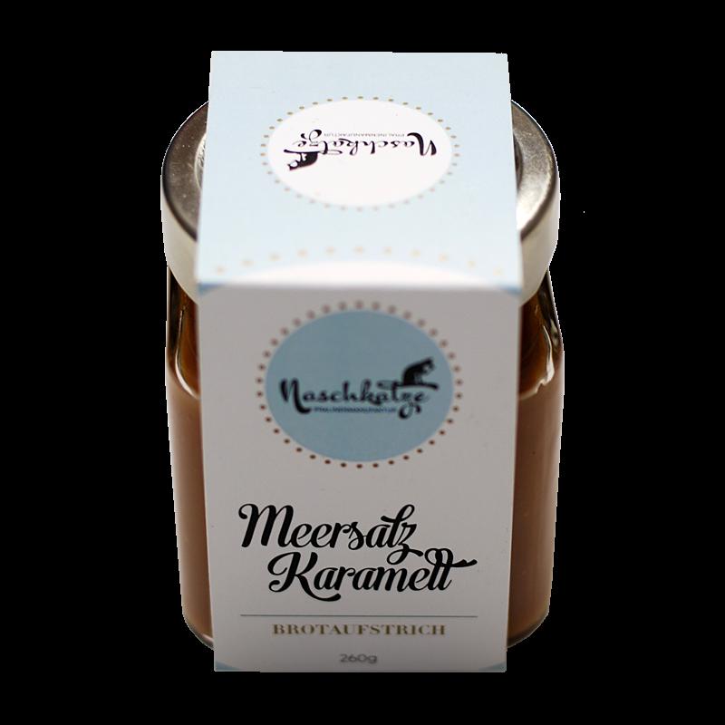 Karamell-Meersalz im 260g Glas (als Brotaufstrich / Topping)