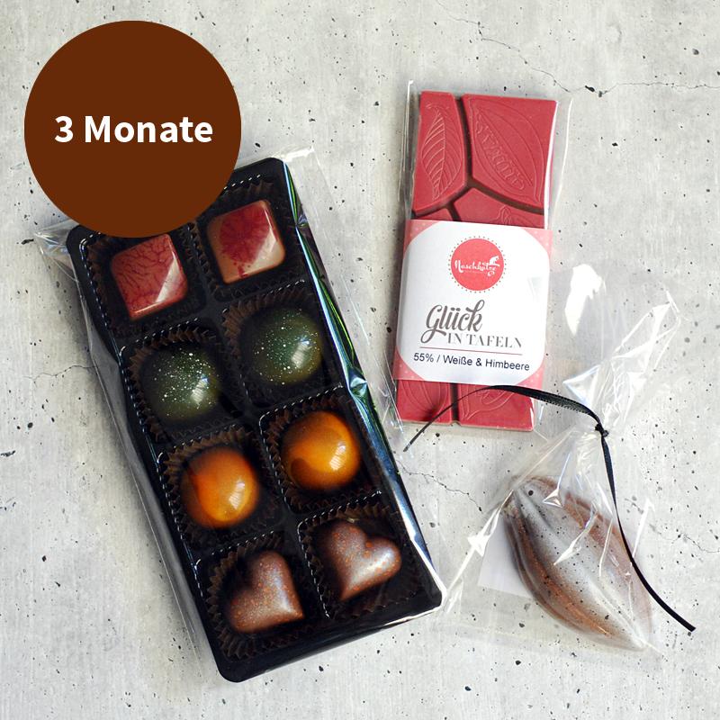 Pralinenabo / Schokoladenabo (18 €) klein für 3 Monate Gratisversand