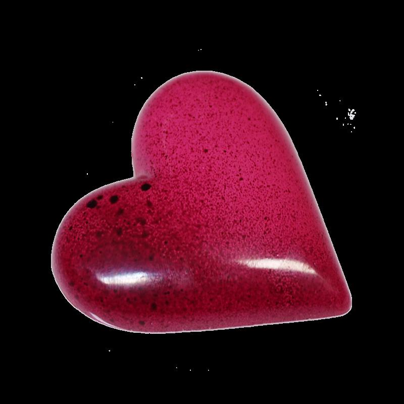 Herz 30g pink mit Haselnussknuspernougat