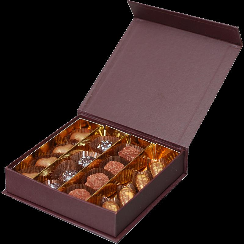 Luxusschachtel mit 16 Trüffeln & Pralinen (ca. 130g)