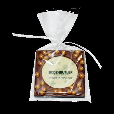 Schokoladentafel mit Logo und Wunschtext