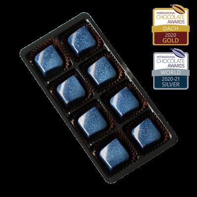 8er Packung Schokoladenkaramell auf Knuspernougat
