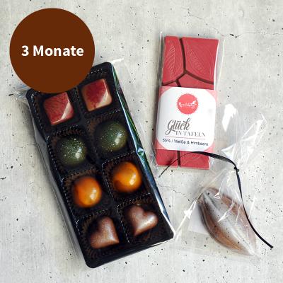 Pralinenabo / Schokoladenabo (15 €) klein für 3 Monate Gratisversand