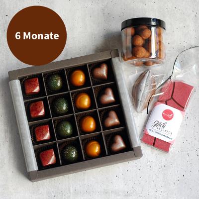 Pralinenabo / Schokoladenabo (35 €) groß für 6 Monate Gratisversand