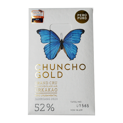 Perú Puro Chuncho Gold Grand Cru 52% Bean to Bar