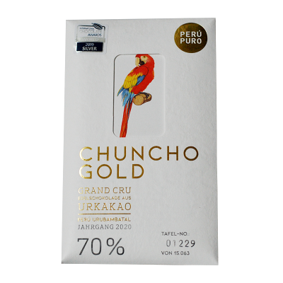 Perú Puro Chuncho Gold Grand Cru 70% Bean to Bar vegan