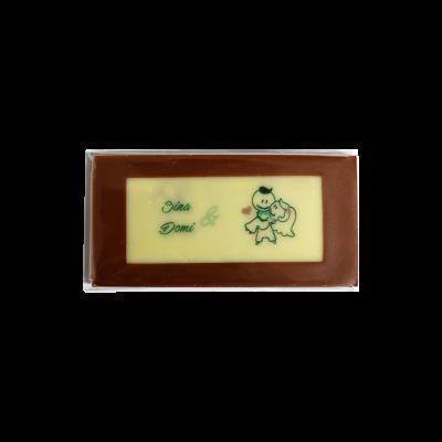 Minitafel 8x4cm Tischkarte aus Schokolade Rechteck nur ein Motiv