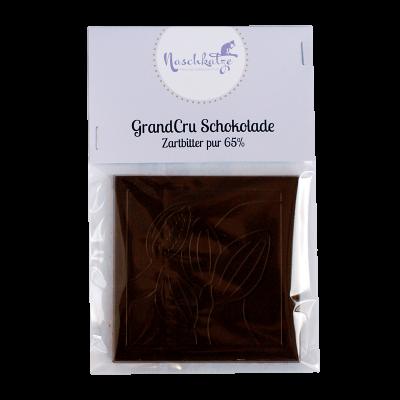 Schokoladentafel Zartbitter pur 65% vegan