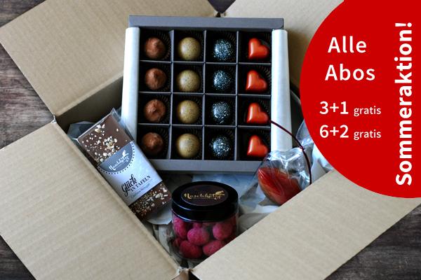 Pralinen / Schokoladenabo zum Verschenken oder selbst genießen