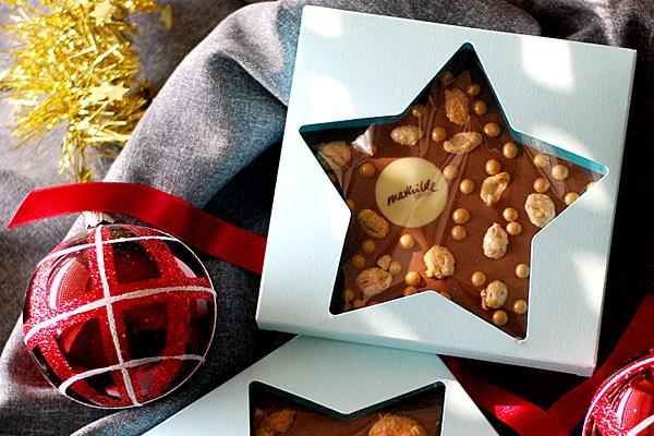 Weihnachtspräsente aus Schokolade, Mitarbeiterpräsente, Kundenpräsente